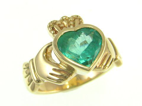 NB Celtic Design - the home of fine Celtic & Claddagh Jewelry . What a gorgeous emerald