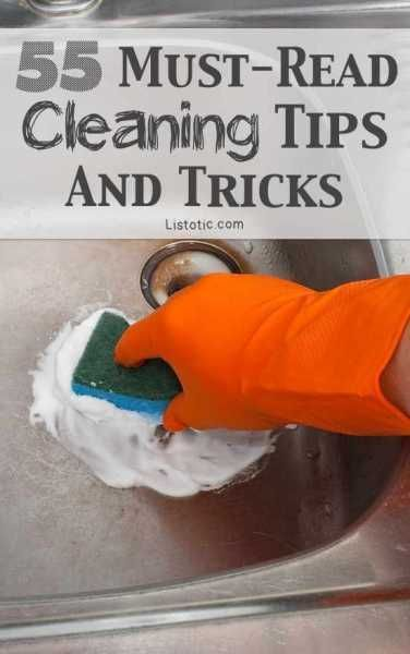 .. then read this list. It will help you be quicker, more efficient at your cleaning and save you heaps of time. There are 55 tips and tricks here and to be honest, I didn't know about half of them my