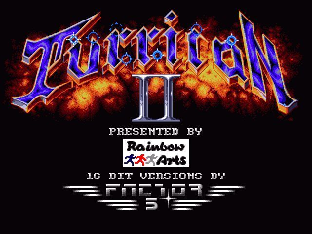 Turrican Ii The Final Fight Amiga The Title Screen In All Its Glory Video Game Music Games Download Games