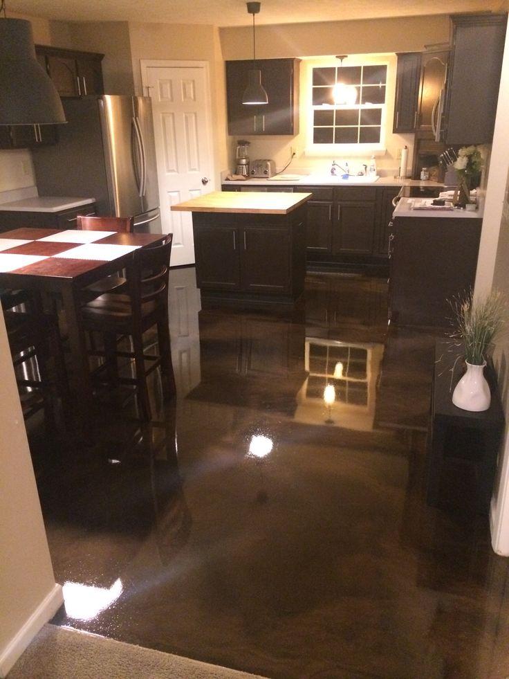 Metallic Epoxy Kitchen Floor *This floor for new Coffee shop.*