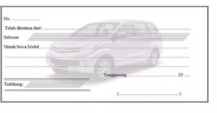Contoh Kwitansi Rental Mobil Penelusuran Google Desain Penyewaan Mobil