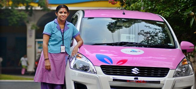 India : She taxi, taxi by woman for women