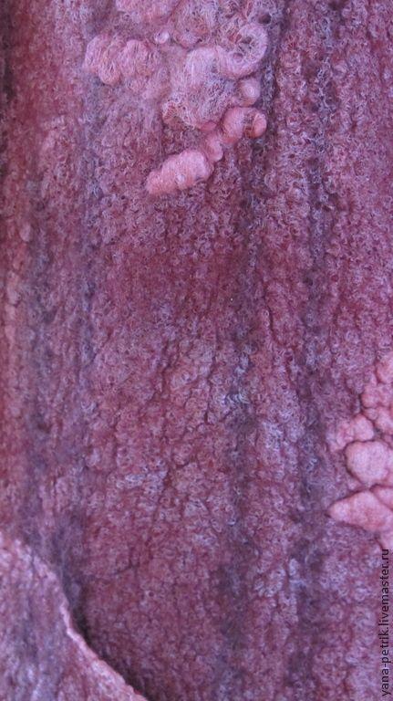 Купить Куртка женская ручной работы валяная из шерсти и шелка Sylviane…
