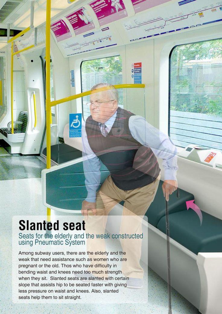 slanted seat