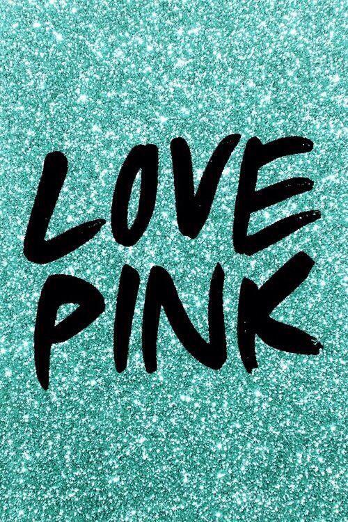 VS Pink In Mint Green Glitter