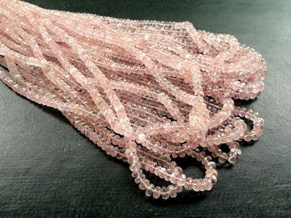 Morganite Faceted Rondelle Beads Morganite by gemsforjewels