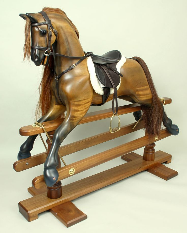 The traditional British rocking horses by Kensington Rocking Horse Company are widely regarded as the world's finest hand made rocking horses