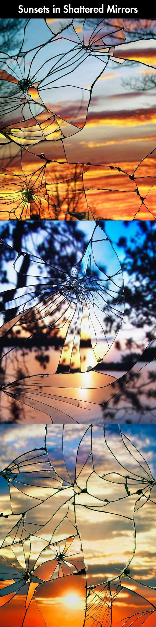 Sunsets in shattered mirrors