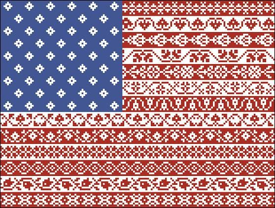 American Flag Cross Stitch Pattern Stars and by MyTreasureIsland, $7.00