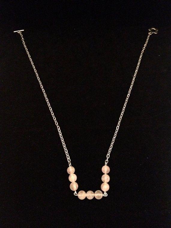 Delicate offwhite light pink quartz by NotYourMomsJewellery, $32.00