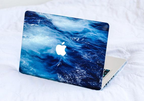 Laptop Skin Macbook Pro Skin Macbook Air Skin Macbook Cover Macbook Decal Macbook Sticker Laptop Skin Big Blue Ocean Sea Waves Blue