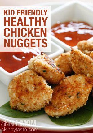 Baked Chicken Nuggets on Pinterest | Healthy chicken nuggets, Chicken ...