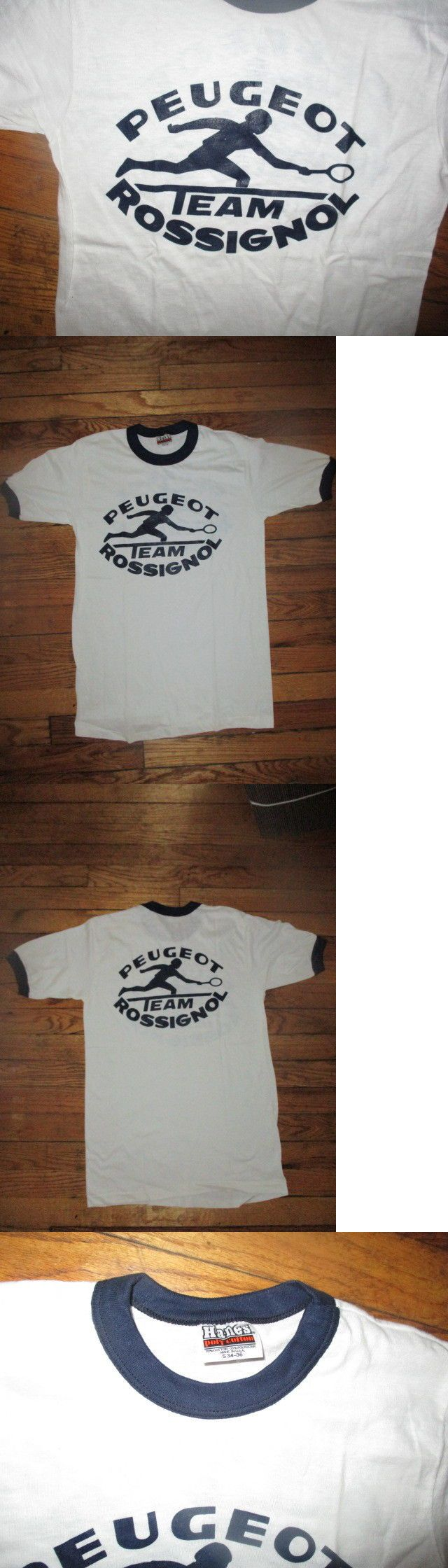 Tennis 430: Vintage 80 S Peugot Team Rossignol Logo Shirt Sm Mats Wilander Johan Kriek Nwot -> BUY IT NOW ONLY: $59.99 on eBay!