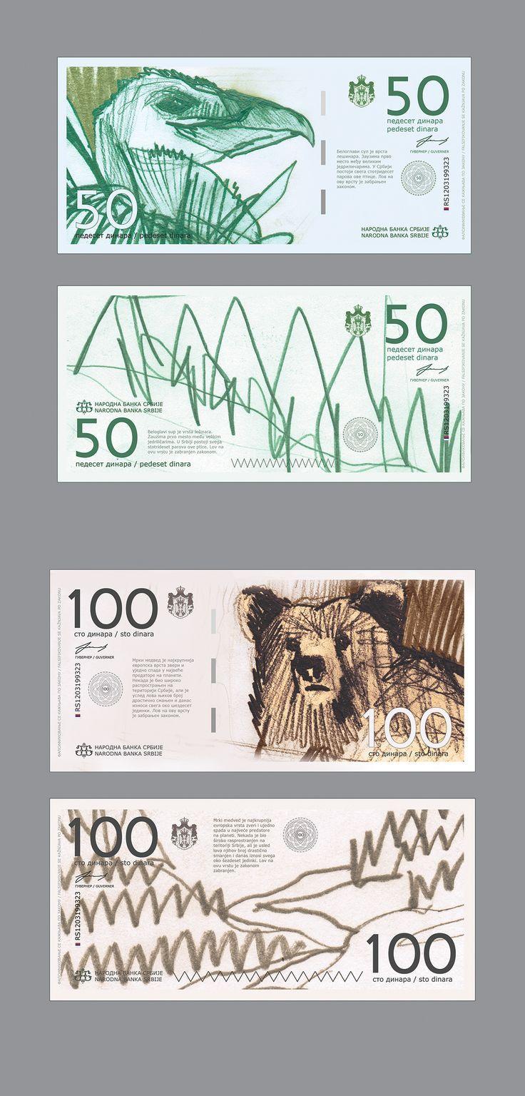 Redesign of Serbian Dinar on Behance