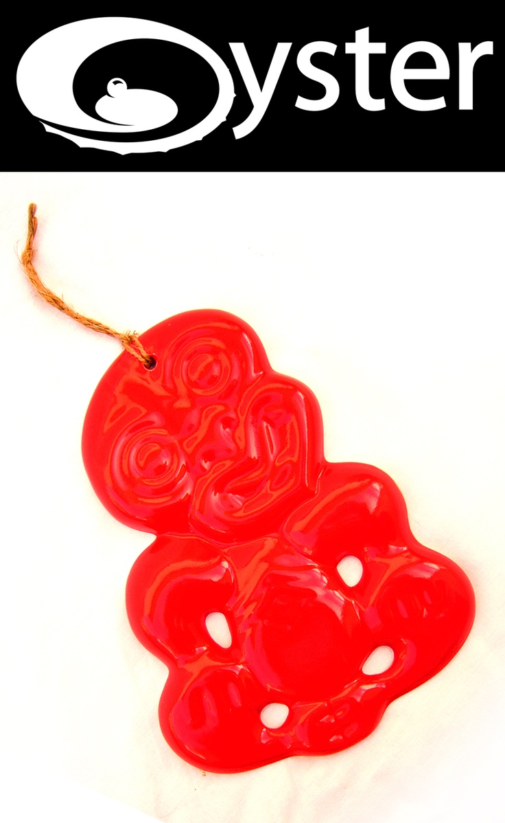 Red ceramic wall hanging tiki from Oyster  220mm $35.00    http://www.oystergallery.co.nz/index.php?option=com_frontpage=1