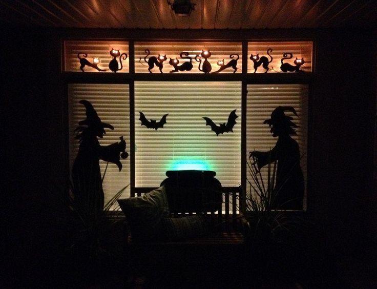 17 meilleures id es propos de fen tre de silhouettes d for Decoration fenetre halloween