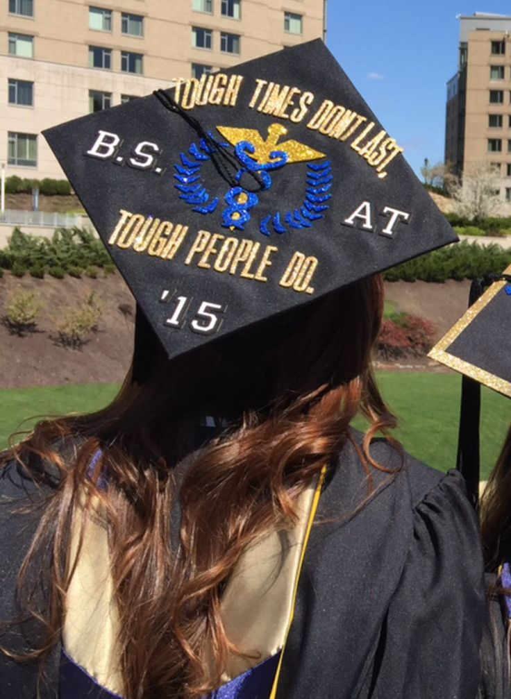 "Grad cap decorating ideas: Pitt Athletic Training Mortar Board! ""Tough Times Don't Last, Tough People Do"""