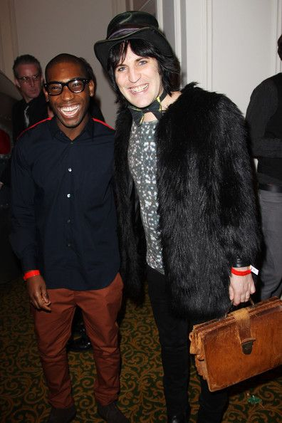 Noel Fielding Photos Photos - (UK TABLOID NEWSPAPERS OUT) L-R Tinie Tempah and Noel Fielding arrive at the Q Awards 2010  held at The Grosvenor House Hotel on October 25, 2010 in London, England. - The Q Awards 2010 - Inside Arrivals
