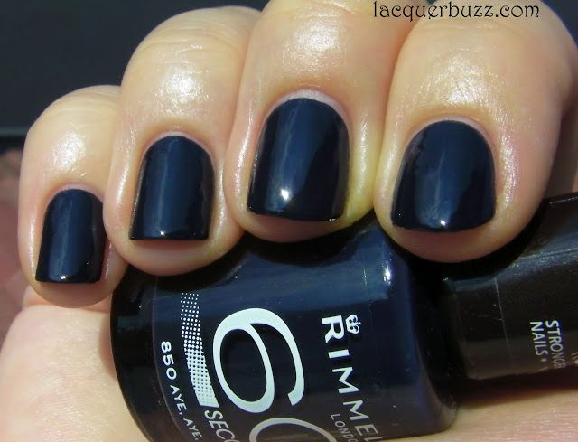 Lacquer Buzz: Rimmel 60 Seconds review and swatches part 2 Aye, Aye, Sailor