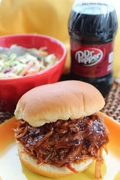 #Crockpot Dr. Pepper pulled pork #recipe. Perfect lazy day dinner idea!- my new favorite way to make BBQ