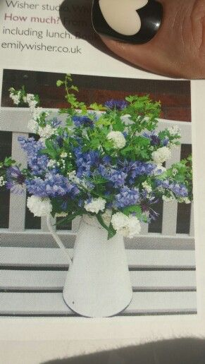 Beautiful bluebells ~ blue white and green wedding flowers