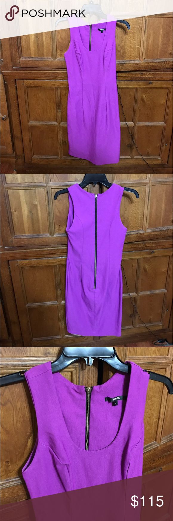 Naven size 4 purple dress Naven size 4 purple dress in excellent used condition. No stains, holes or rips. Measurements are posted. Pit to pit is pic 6, length is pic 7 and zipper length is pic 8. The color is purple. My measurement pics look pink but the dress is PURPLE. 💁🏼wear this dress to a wedding, graduation or on a fun night out and all eyes will be on you!! Bundle to save! Naven Dresses