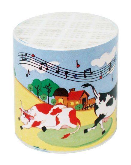 Ouderwets geluidsdoosje met koe geluid -De Oude Speelkamer