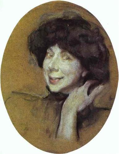 Portrait of Anna Benois - Valentin Serov: