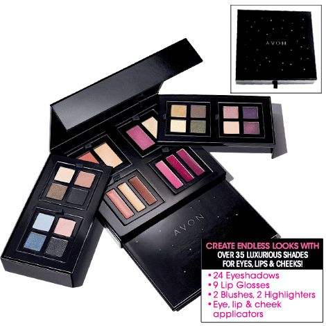 AVON MEGA MIX 'N GO PALETTE It is two-tiered and has a portable mini palette with a mirror that slides out of the bottom, so it's perfect for home and to take with you on the go! Arrange the makeup trays any way you like for a personalised palette that is so You! #avon #makeup #makeuppalette #travel