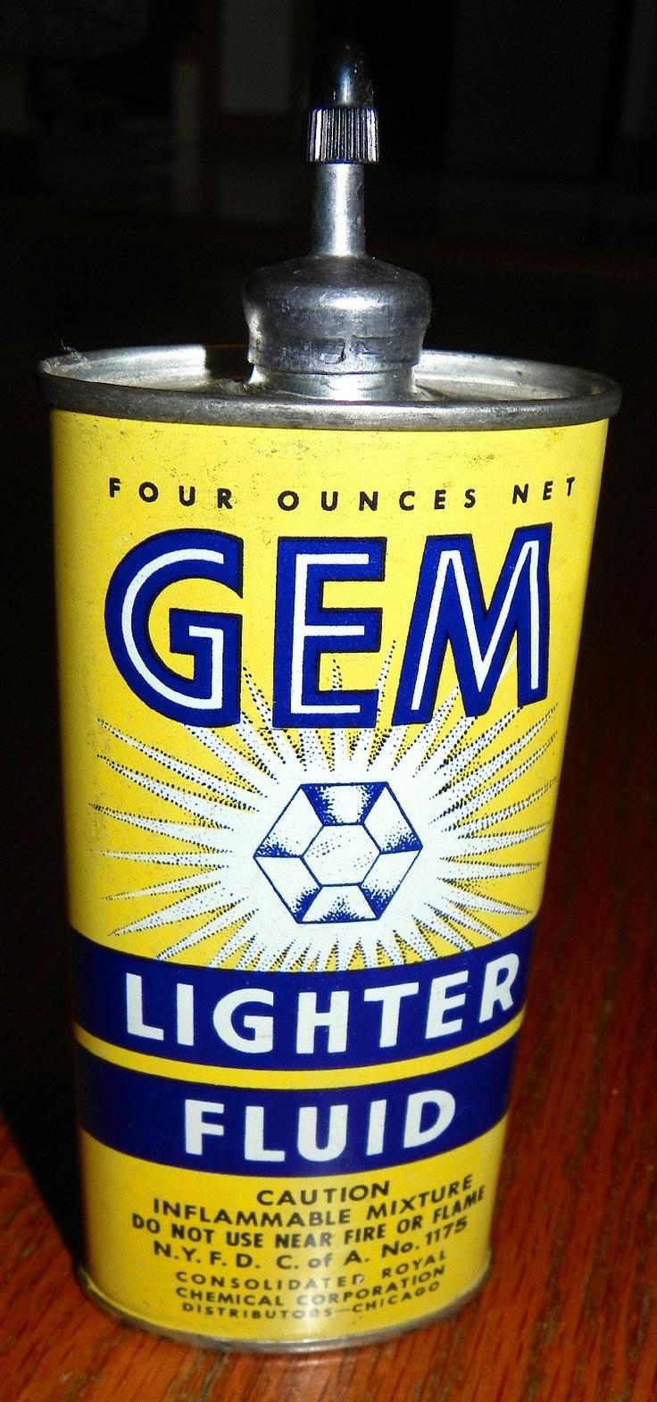 Gem lighter fluid vintage lighter fluid fluid