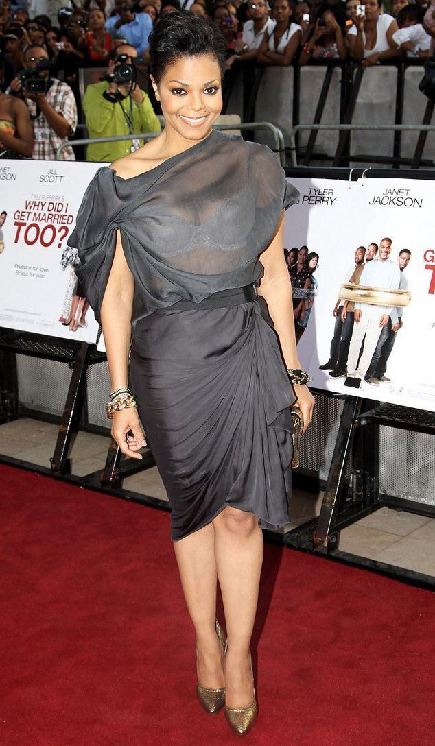 Peek-a-Boo from Janet Jackson's Best Looks From Red Carpet to Concerts  Even before the sheer trend caught on, Janet was already ahead of the game back in 2010.