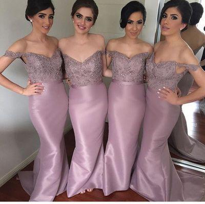 Off The Shoulder Mermaid Custom Made Bridesmaid Dresses,Fishtail dress,Sexy dress,
