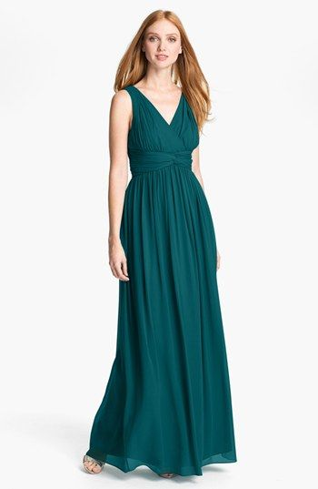Lots of colors Donna Morgan 'Julie' Twist-Waist Silk Chiffon Gown available at #Nordstrom