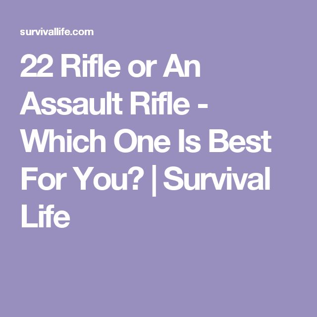 22 Rifle or An Assault Rifle - Which One Is Best For You? | Survival Life