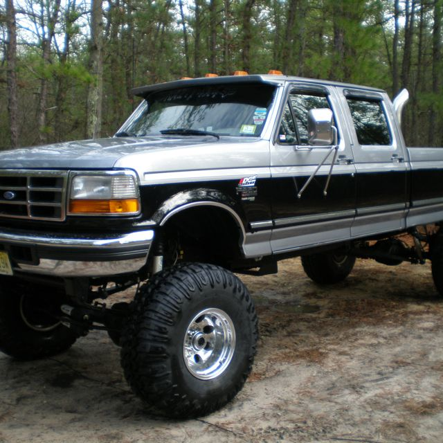 1995 Ford F350 Crew Cab Transmission: 1997 Ford F350 4x4 With 6 Inch Lift Then Stacks Too. Dream