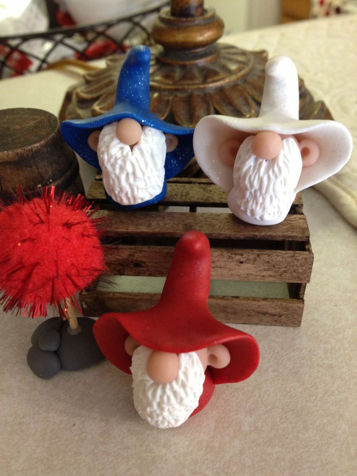 Pickle Hollow Gnomes Patriotic Polymer Clay by Whimsybydesign1, $24.00 Want bigger one for Yard