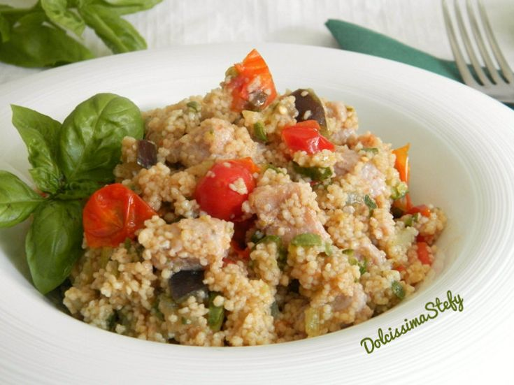 Cous Cous di Zucchine e Pollo,ricetta veloce - Dolcissima Stefy