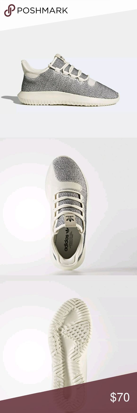 Adidas Tubular Shadow Great trendy shoes! Neutral colors, but not boring. Snug and comfy. THESE RUN LARGE. Will fit someone with a 9.5 shoes size best. New in box. Size 8.5. adidas Shoes Athletic Shoes