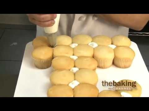 Numeral Cupcake Cake Design from DecoPac - First Birthday Cupcake Cake - YouTube