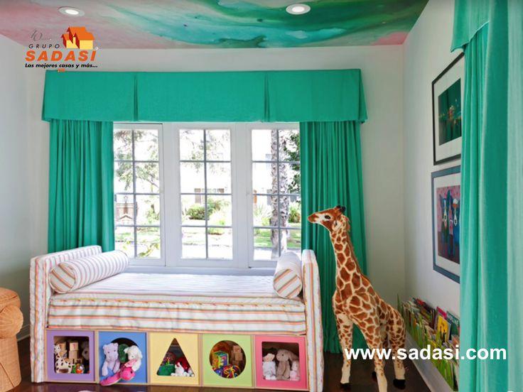 #casas LAS MEJORES CASAS DE MÉXICO. Para almacenar juguetes en una habitación infantil, puede hacerlo con una base que tenga doble cabecera y una altura en la que se puedan meter cajas en la parte inferior. La estructura del mueble puede forrarla de tela y esto le permitirá cambiar de diseño cuando la tela esté desgastada o sucia. Le invitamos conocer nuestro desarrollo de Grupo Sadasi LOS ALMENDROS en la bella ciudad de Mérida, Yucatán. jperez@sadasi.com