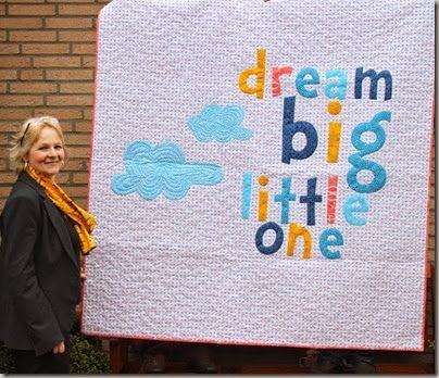 Dream BIG padrão moderno colcha de bebê ZEN CHIC