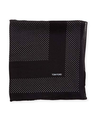 TOM FORD Small Polka Dot Pocket Square