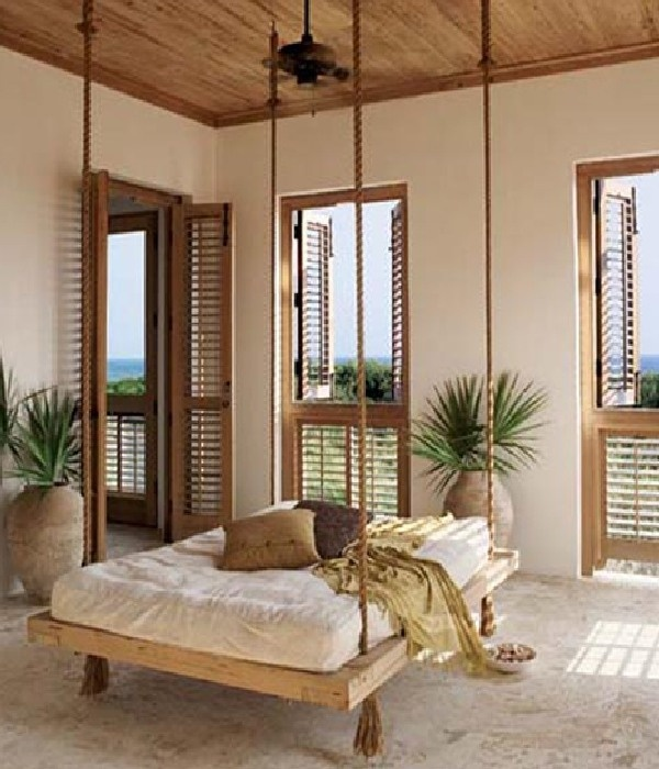 *so beachy!: Idea, Hanging Beds, Sleep Porches, Back Porches, Beds Swings, Ropes, Beaches Houses, Porches Swings, Swings Beds