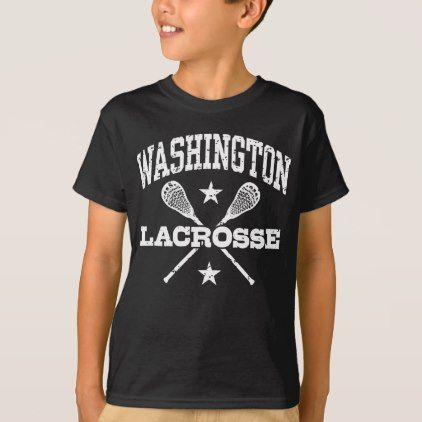 Washington Lacrosse T-Shirt - girl gifts special unique diy gift idea
