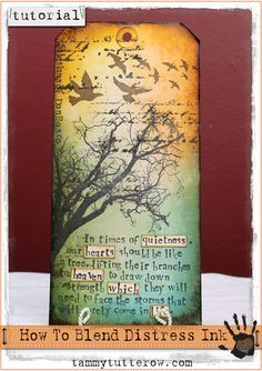 Tammy Tutterow Tutorial: How to Apply and Blend Distress Ink