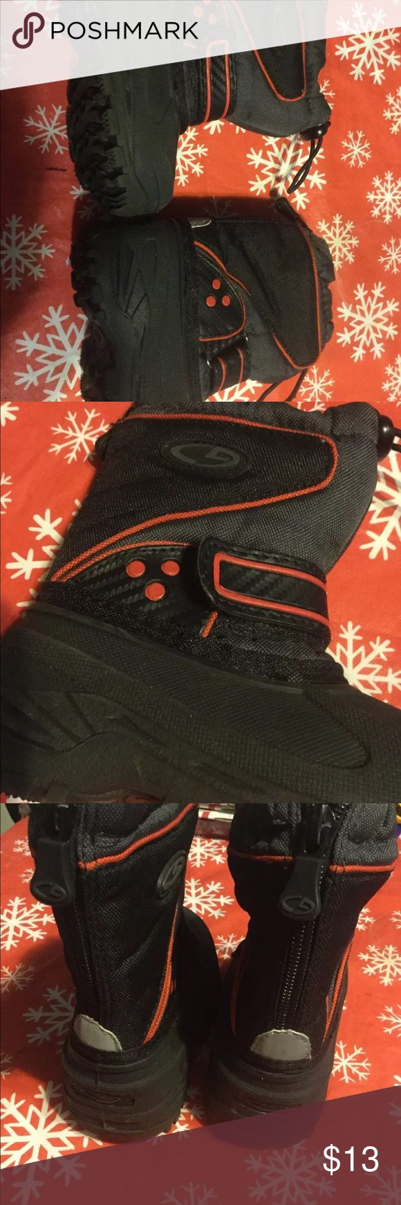 Target ❄️Toddler little Boys Snow Boots easy on Excellent Condition ❄️bundle to save 20%❄️zip up back for easy putting on 🎉 Target Shoes Rain & Snow Boots