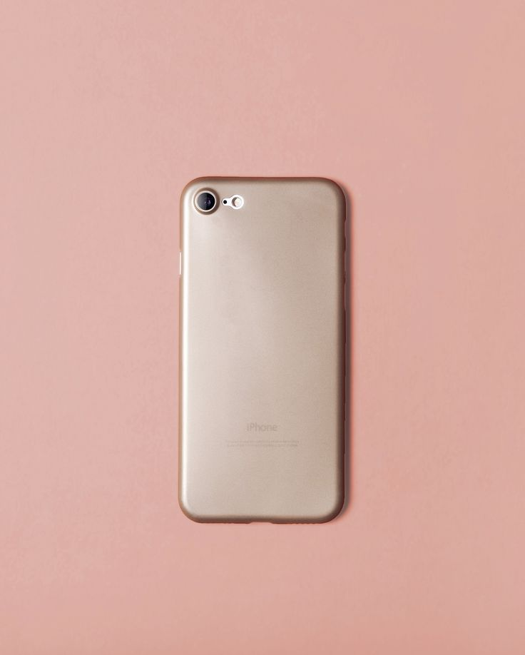 Nudient gold case for iPhone 7