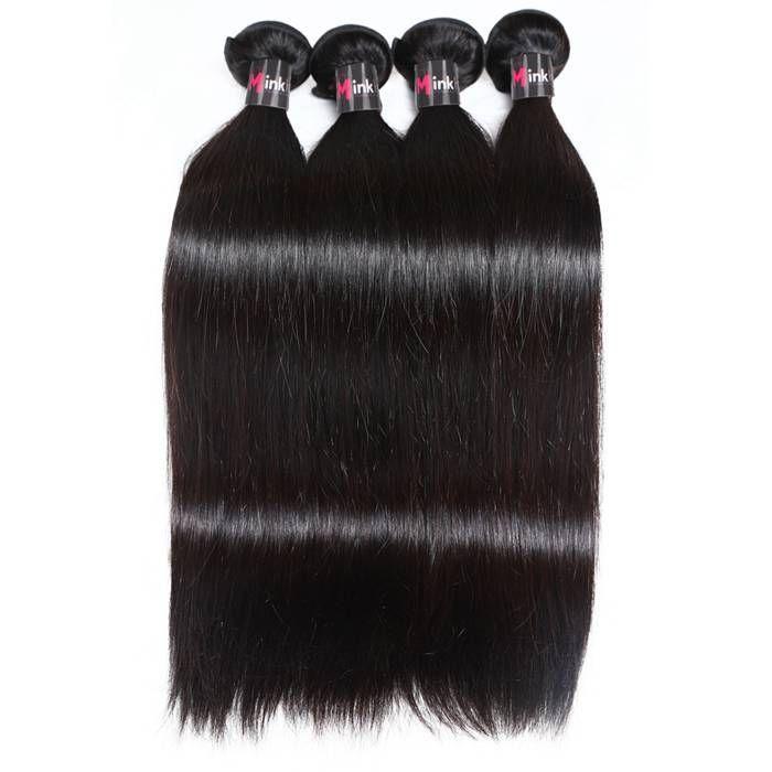 【Malaysian Hair】Mink Hair 8A Grade Virgin Malaysian Straight Hair Bundles Deals 3 Bundles Cheap Brazilian Straight Remy Hair Weave human hair extensions
