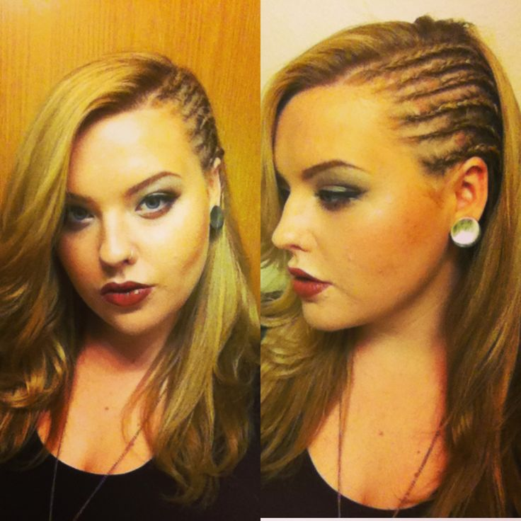 "my cornrow ""faux side shave"" from @Kayla VanSkyhawk"