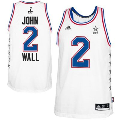 Mens Eastern Conference John Wall adidas White 2015 NBA All-Star Game Swingman Jersey